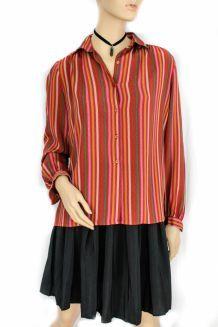 chemise vintage colorée rodier