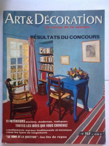"Magazine de collection ancien ""Art et décoration"" datant de 1971"