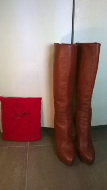 Botte Louboutin Bianca Marron