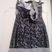 robe grise du soir