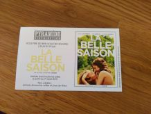 """2 places de cinéma pour """" La Belle Saison """""""