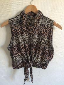 cc top imprimé leopard