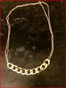 Collier chaine dorée