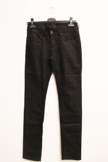 Pantalon slim huilé noir School Rag 36