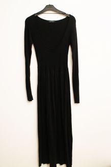 Robe longue maille noire