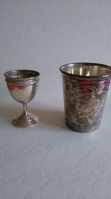 Set de baptème (coupe et gobelet)