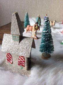 Maisons de Noël Vintage en l'état