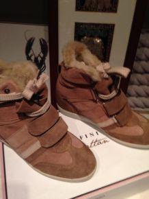 Chaussures Serafini fourrure neuves