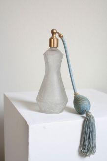 flacon de parfum en verre craquelé avec vaporisateur