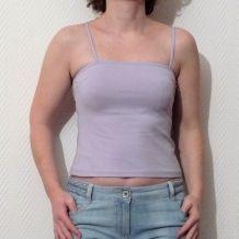 Top / Tee Shirt avec bretelles Violet Clair- T1 - La City