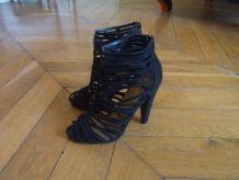 Sandales noires à talons ASOS