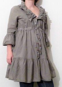 Tunique/ Robe Longue Kaki - Kosmika