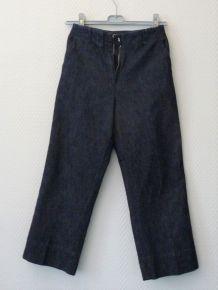 Pantacourt en Jean 100% Coton - Taille 36- Soft Grey