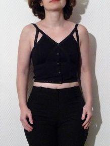 Top court noir à bretelles  -NEUF- H&M