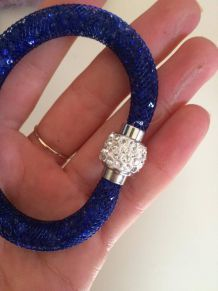 Bracelet brillant bleu