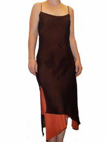 Robe Reversible Noir et Orange avec ses Bretelles- Taille 36