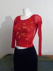 Tee Shirt Original Fushia manches longues- Taille 40- Leiko