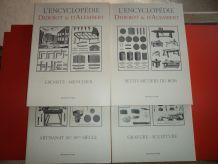 Lot de 4 Encyclopédies Diderot d'Alembert en Parfait état