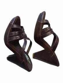 Chaussures Originales en cuir et daim Marron-  MONDERER