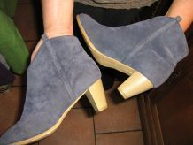 Bottines bleues a talons
