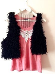 Gilet en laine DIY - Noir