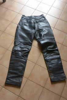 pantalon cuir motar