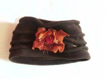 Bonnet en laine marron