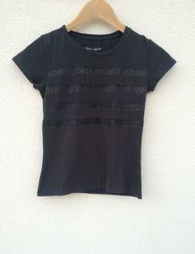 Tee-shirt noir Teddy Smith paillettes