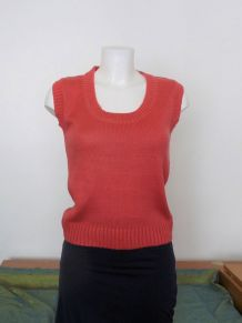 Pull Sans Manches Saumon - Taille 36/38