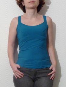 Top Bretelles Bleu Turquoise Neuf- Nulle Part Ailleurs