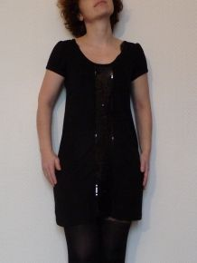 Tunique/Robe Noire À Paillettes - Loona
