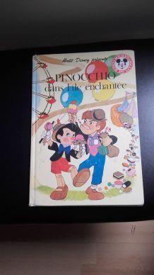 PINOCCHIO dans l'île enchantée club du livre Mickey 1983 livre de Paris Hachette