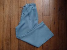 Pantacourt 100% Lin Turquoise - La Redoute