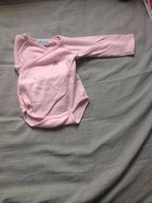 body pas cher rose bébé 1 mois