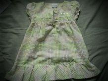 robe 6 mois pas cher vert et blanc