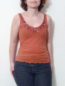 Tee-Shirt Orange sans manches -La Redoute