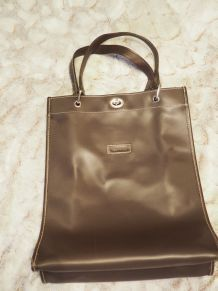 Sac Longchamp Marron - TBE
