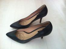 Escarpins noirs Zara en cuir