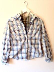 Chemise à careaux de couleurs mauve et rose / H&M