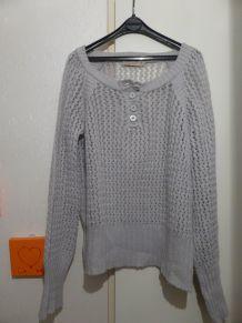Pull gris en laine