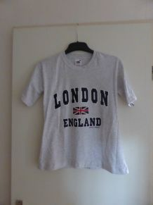 T shirt London England gris T34-36
