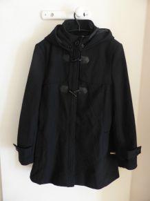 Manteau noir à capuche T40-42