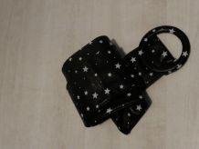 Grosse ceinture noire étoiles blanches