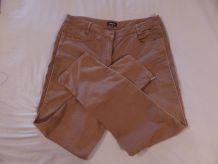 Pantalon camel marron T44
