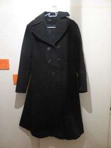 Manteau long noir T40/42