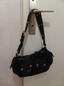Petit sac à main noir, 2 poches