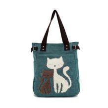 Sac à main femme women Vert chat mignon sac à bandoulière bacs