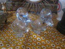 paires de canards , cristal de vannes vintage
