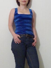 Top Velours Bleu -Pimkie