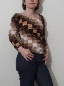 Top Original Marron/Beige/Blanc